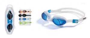 Occhialini coral colori assortiti in bivalva accessorio sportivo