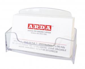 ARDA Porta biglietti da visita da tavolo in acrilico trasparente