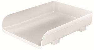 ARDA Vaschetta portacorrispondenza da tavolo colore bianco 33,5 x 25,4 x 7cm