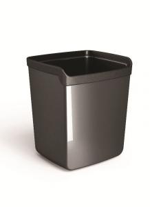 ARDA Porta penne in plastica colore nero 8,7 x 7,4 x 10cm articolo da ufficio