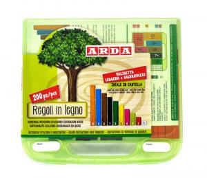 ARDA Valigetta 200 regoli in legno articolo didattico