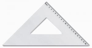 ARDA Squadra 45 gradi in alluminio 21cm articolo da ufficio