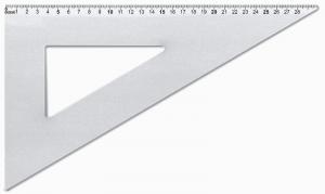 ARDA Squadra 60 gradi in alluminio 30cm articolo da ufficio