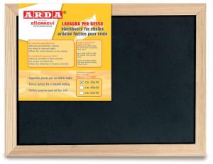 ARDA Lavagna bifacciale nera per la scrittura con il gesso cornice in legno