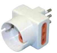 LEUCI Elettrico Adattatore Doppia 16at + Shuko H154-b Con Spina