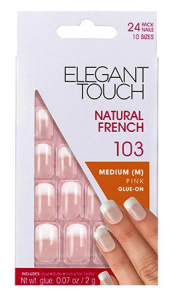 ELEGANT TOUCH Unghie Finte 103 Natural French Medie Pink Fade