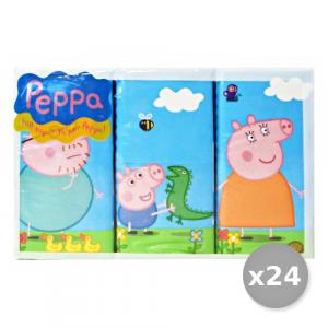 Set 24 CLEAN Mouchoirs 'Peppa' Cochon X 6 Pièces Soins du corps