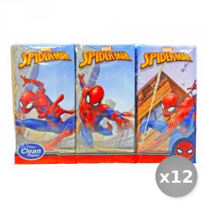 Set 12 CLEAN Mouchoirs 'spiderman' * 6 Pi?ces - Fazzoletti di Carta