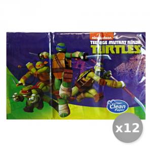 Set 12 CLEAN Mouchoirs 'tartarughe' Ninja X 6 Pi?ces Soins du corps