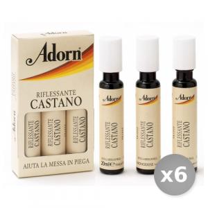 Set 6 ADORN Fiale Castano x 3 Pezzi Prodotti per Capelli
