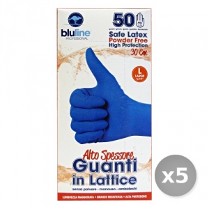 Set 5 BLULINE Guanti Lattice Alto Spessore Taglia l * 50