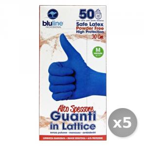 Set 5 BLULINE Guanti Lattice Alto Spessore Taglia m * 50
