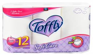 TOFFLY 6 Carta Carta Carta igienica Doppia Soft Care Cura del corpo