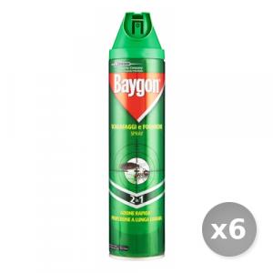 Set 6 BAYGON Scarafaggi e Formiche Spray 400 ml Articoli per Insetti