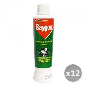 Set 12 BAYGON Scarafaggi e Formiche Polvere 250 gr Articoli per Insetti