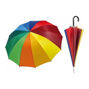 PERLETTI Umbrella Woman 65 Cm Golfautomatic Rainbow 12112