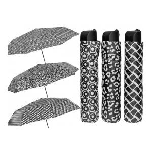 PERLETTI ombrello donna mini bianco/neromanuale 12230