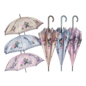 PERLETTI ombrello donna autom 61/8 fiore/ perl. 25824