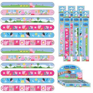 Set 12 confezioni bracciale slap peppa pig a 6398 gioielleria bimba bambina