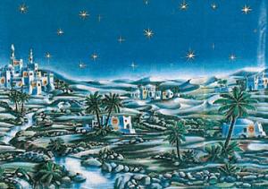 fondale presepe arabo chiaro cm 70x100 418001000 f.blu chiaro natale