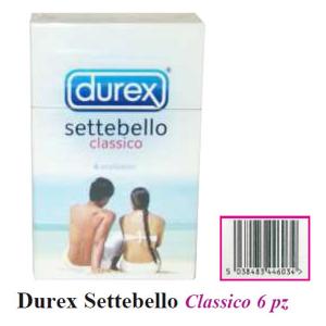 durex settebello x6 confezione distributore ip066 tabaccheria