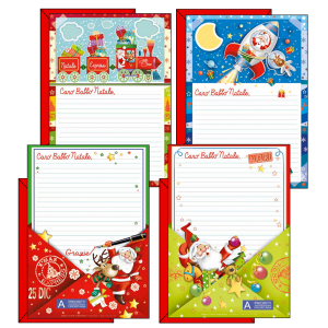 Set 24 Packs Letter Father Christmas 04806501