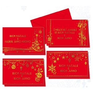 CROMO N.B. confezione 60 pezzi cartoncini doppi rossi nt.0334 natale