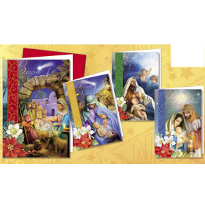 CROMO N.B. Pack 12 Pieces Tickets Christmas Religious Nt.3559 Christmas