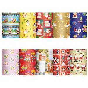 SAUL SADOCH Set 50 confezioni carta regalo bimbi natale assortito 100x140 5550na4 imballaggio