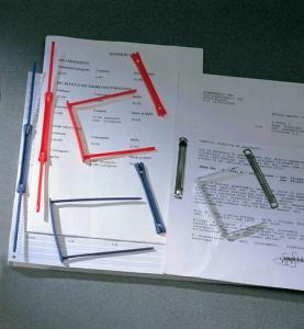ACCO BRANDS Set 100 confezioni data clip fermaglio 000965e plastica blu a pezzo scx100
