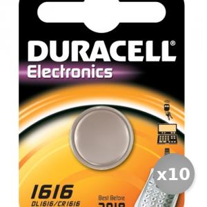 Set 10 DURACELL Batterie Dl1616 3 Volt Lithium Services Général Pile