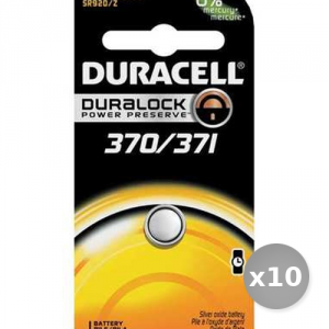 Set 10 DURACELL Batterie D370 / 371 Services Général