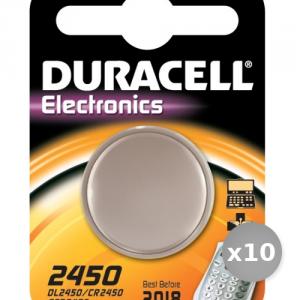 Set 10 DURACELL Battery D2450 3 Volt litio Dl 2450 Services General