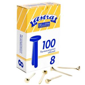 ASTRA DELLERA fermacampioni n.8 scatola 100 pezzi fc8 puntine elastici