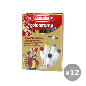 Set 12 ETAFELT Marker Colorstamp Box 5 Pieces 10640st005sen Subject Christmas