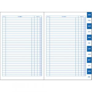BM scadenzario 17x24 uso mano 4 copie 500/4 modulistica