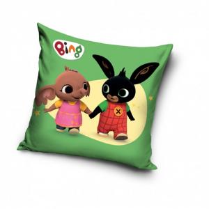 BING BUNNY cuscino quadrato per bambini 40x40 cm Bing e Sula verde