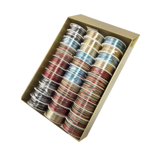 PRASENT Rolls Raffia Metal Christmas Assorted 98561 Packaging Gift