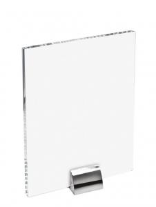 Vetro rettangolare per sublimazione con supporto cm.1x14,5x19h