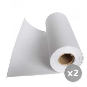 Set 2 AUTOPAC carta kraft politenata bobina bc-3535 cm  x 400mt imballaggio alimenti