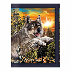 3D LIVE LIFE portafoglio jumping wolves 37938 taccuino