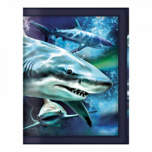 3D EN DIRECT LIFE Portefeuille Requin Thrash 38638 Cahier