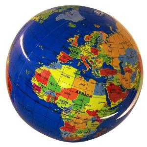 BORELLA pallone gonfiabile globo geografic 30 cm. 037it-nv.cly gioco