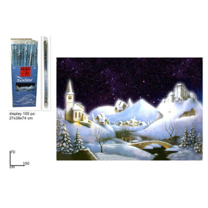 DUEESSE CHRISTMAS Fondale Crib Night Innevato cm.70x100 310509 Christmas