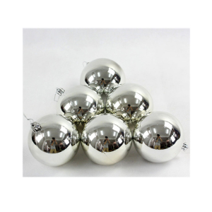 MORANDUZZO Pack 20 Spheres 50 ml Metalized Silver500018700 Christmas