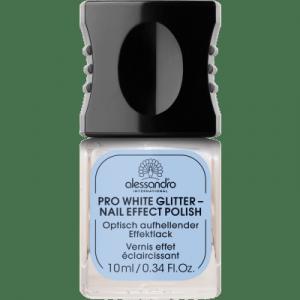 ALESSANDRO INTERNATIONAL Pro White Glitter Manicura Maquillaje Uñas 10 ml