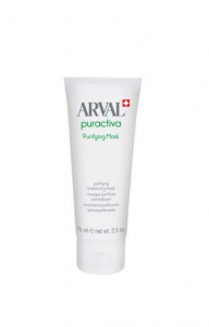 ARVAL puractiva purifying mask maschera purificante seboequilibrante 75ml