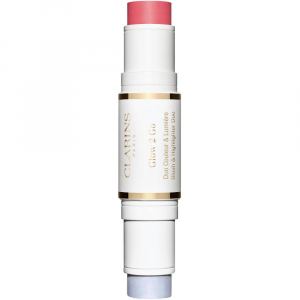 CLARINS glow 2 go blush & illuminante 01 Glowy pink
