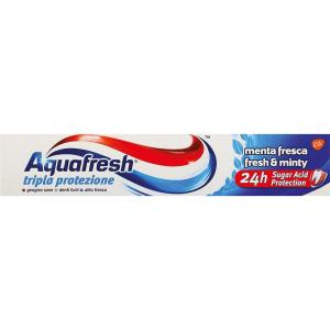 AQUAFRESH dentifricio fluoro tripla protezione cura dei denti 75ml