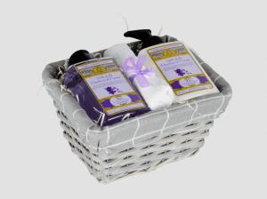 AMOVITA country medium viola bagno doccia+crema corpo+lavetta 300+300ml